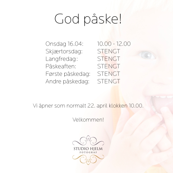 Åpningstider PÅSKE -14